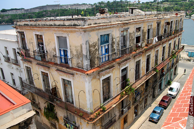 Дом в Гаване, вид сверху.