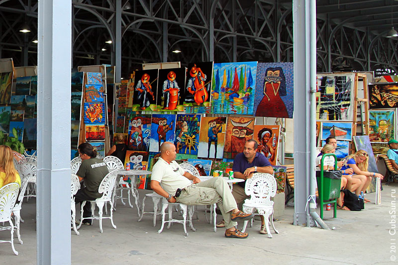 Ярмарка народных промыслов в Гаване.