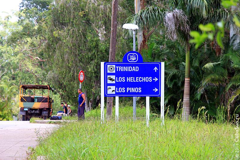 Дорога к отелю Los Helechos (Папоротники) 3*.