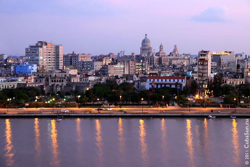 Ночная Гавана.